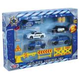Set de joaca politie cu 5 vehicule si accesorii Motormax