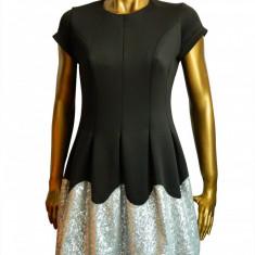 Rochie eleganta de seara, neagra, cu paiete decorative Myrine