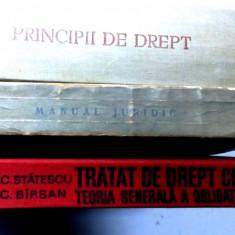 lot de 3 carti carte veche drept civil tratat manual juridic principii de drept