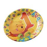 Farfurii petrecere 23 cm 1st Birthday- Winnie The Pooh, Radar 61240, Set 10 buc