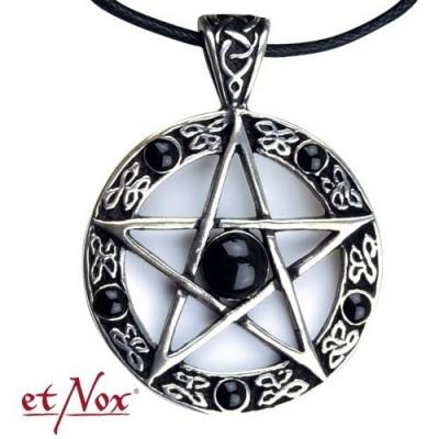 Pandantiv argint Pentagrama Neagra foto