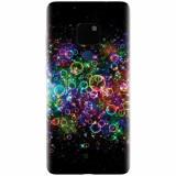 Husa silicon pentru Huawei Mate 20, Rainbow Colored Soap Bubbles