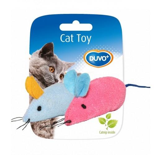 Soricel de jucarie pentru pisici din material textil, Duvo+