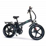 Bicicleta electrica E-TWOW GE Fat Bike V2 Urban, Autonomie 50km, Viteza maxima 25 Km/h, motor 250W, roti 20inch, cauciuc offroad, Far LED, port USB, B