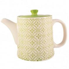 Ceainic French Clasic din Ceramica, Verde deschis, 700 ml