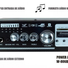 AMPLITUNER,STATIE AUDIO 120W,MP3 PLAYER,BLUETOOTH,TELECOMANDA,MICROFON BONUS.NOU, 81-120W