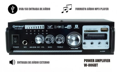 AMPLITUNER,STATIE AUDIO 120W,MP3 PLAYER,BLUETOOTH,TELECOMANDA,MICROFON BONUS.NOU foto