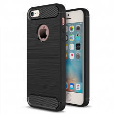 Husa APPLE iPhone 5\5S\SE - Carbon (Negru) Forcell