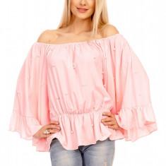 N743-5112 Bluza eleganta cu volanase si maneci largi