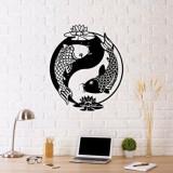 Cumpara ieftin Decoratiune pentru perete, Ocean, metal 100 procente, 70 x 50 cm, 874OCN1017, Negru
