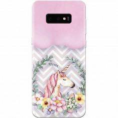 Husa silicon personalizata pentru Samsung Galaxy S10 Lite, Aesthetic Unicorn