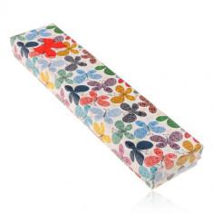 Cutie de cadouri pentru lant sau bratara,fluturi colorati cu ornamente
