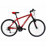 Cumpara ieftin Bicicleta Mountain Bike VELORS Scorpion V2671A, Roti 26inch, 18 viteze, Cadru 17inch (Rosu)