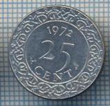 AX 1030 MONEDA- SURINAM (SURINAME) - 25 CENT -ANUL 1972 -STAREA CARE SE VEDE, Europa
