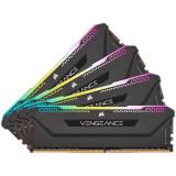 Memorie Corsair Vengeance RGB Pro SL Black 32GB (4x8GB) DDR4 3600MHz CL18 1.35V Quad Channel Kit