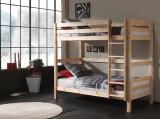Pat etajat din lemn de pin pentru copii Pino Tall Natural, 200 x 90 cm