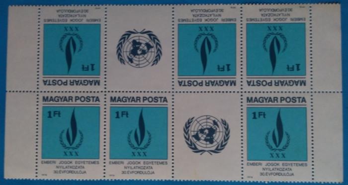 UNGARIA -1979-Drepturi  pt.Om-2 Straif tete beche de 3+vineta-MNH  (Mi=35e)