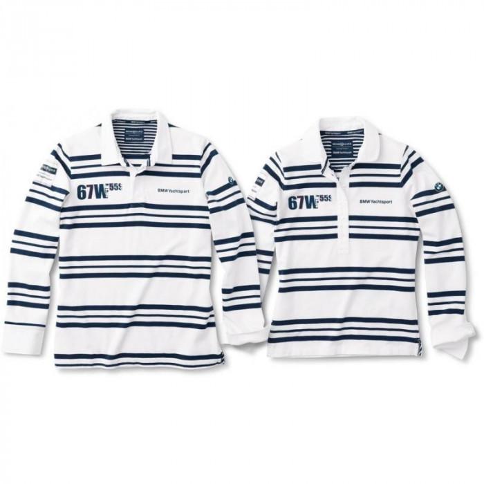 Tricou Barbati Yachting Rugby Alb Albastru, XXL