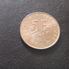 Monedă 5 franci 1989 Franța