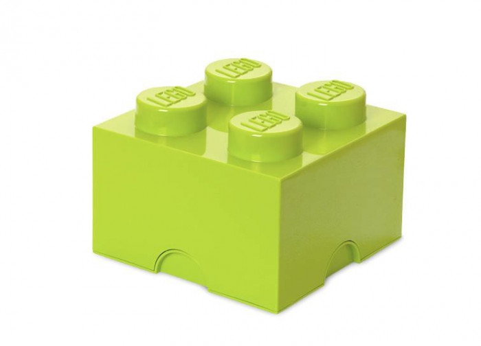 Cutie depozitare LEGO 2x2 - Verde deschis