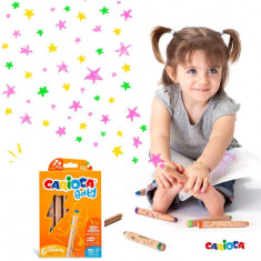 Creioane color 3 in 1 Carioca Baby 1an 6 culori set.
