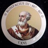 Italia Medalie Argint 925 marcat - Papa Bonifacius III, Europa