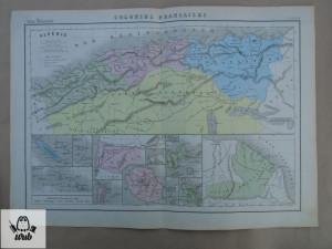 Harta color colonii franceze 1900 - Algeria