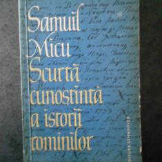 SAMUIL MICU - SCURTA CUNOSTINTA A ISTORII ROMANILOR