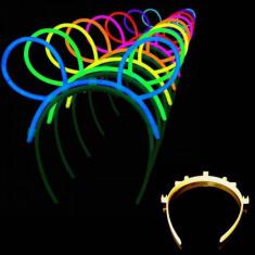 Set 6 Bentite cu Urechi Fosforescente pentru Petreceri