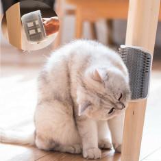 Perie de masaj pentru pisica, negru, Gonga