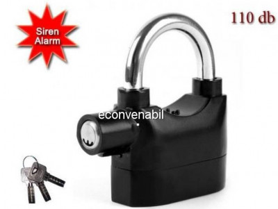 Lacat cu Alarma Antiefractie 110dB XW foto
