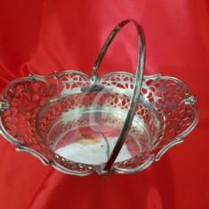 Cosulet perforat cu toarta, argintat, 21 cm