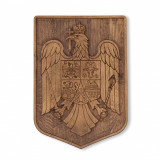 Stema Romaniei din lemn natural