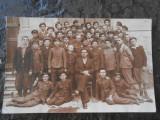 Carte postala cu absolventii cls. IV, liceul Regele Ferdinand, Turda,Mai 1936