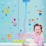 Cumpara ieftin Sticker decorativ cu gradatie pentru inaltime Metru Zoo autocolant de perete pentru camera copii