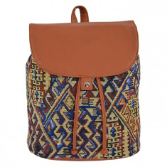 Ghiozdan tip rucsac Pigna Oxigen vintage tribal-geometric FYRS76256