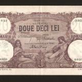 ROMANIA -  20 lei  Iulie 1917 .  XF+.  Pliu central . Rara !  Piesa de colectie