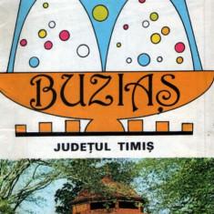 Buziaş - pliant turistic vintage
