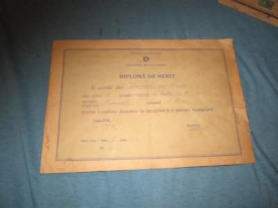 diploma de merit an 1955 c21 foto