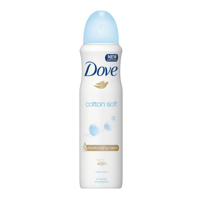 Deodorant antiperspirant spray Dove Cotton Soft 48 h 150ml foto