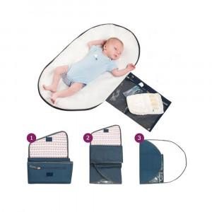 Geanta de infasat Lara Navy Clevamama for Your BabyKids