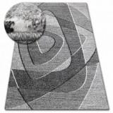 Covor Shadow 8594 alb si vizon, 160x220 cm, Polipropilena