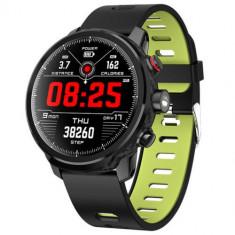 Ceas SmartWatch Microwear L5 IP68, PPG, pedometru monitor de somn verde