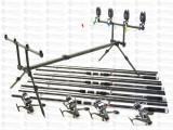 Kit 4 Lansete Fino Carp 3,9m cu 4 Mulin KDL 6000 9 Rulm. baitrunner si rod pod