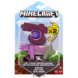 Minecraft, Craft-A-Block Figurina Dyed Cat 8 cm, Mattel