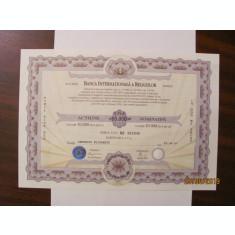 PVM - Actiune Nominativa 10000 lei Banca Internationala a Religiilor BIR 1997