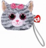 Gentuta de mana din plus TY 10 cm - Kiki pisica gri
