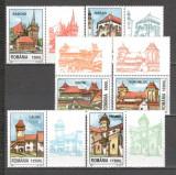 Romania.2002 Biserici sasesti din Transilvania-cu vigneta DR.712, Nestampilat