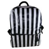 Cumpara ieftin Rucsac de dama, piele ecologica, Zebra, 40 cm, alb-negru