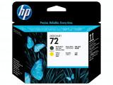 Cap de imprimare HP 72 DesignJet Negru mat / Galben